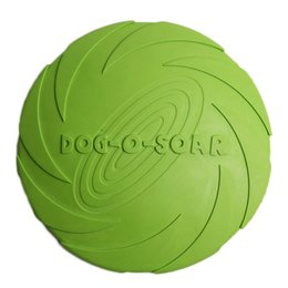 Wholesale Agility Toys - 2018 Promotion Special Offer 17.5cm 15cm Frisbee Dog Toys Eco-friendly Rubber For Training Small Medium Large Dogs Flying Discs