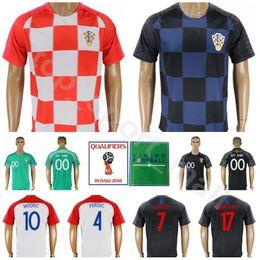cd5a6d22d57 2018 World Cup Men Hrvatska Soccer Jersey 10 MODRIC 7 RAKITIC 4 PERISIC  Football Shirt Kits 17 MANDZUKIC 16 KALINIC Red Blue discount black ripped  shirt