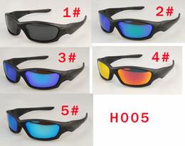 Caixas de transporte coloridas on-line-MOQ = 5 HOMENS polarizados esporte óculos de sol coloridos óculos de sol UV400 bicicleta de vidro mulher para pico óculos de sol 5 cores NO BOX FRETE GRÁTIS