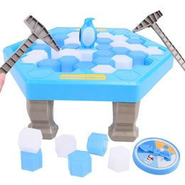 Wholesale penguin games - MINI Ice Breaking Save The Penguin Family Fun Game Penguin Trap Activate Funny Table Game Interactive Entertainment kids toys