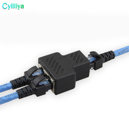 diviseur de câble rj45 Promotion Adaptateur de connecteur femelle de câble de réseau Ethernet LAN RJ45 de 1 à 2 voies
