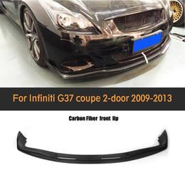 Wholesale Spoiler Lip - JC style carbon fiber car front lip spoiler for infiniti,auto front bumper lip fit G37 2D base sedan journey sedan 2009-2013