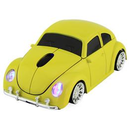 Carro em forma de mouse óptico sem fio on-line-Mouse sem fio para VW Beetle Car Forma Ratos 1600 DPI Computador Óptico Gaming Ratos Para Presente De Natal PC Laptop Desktop
