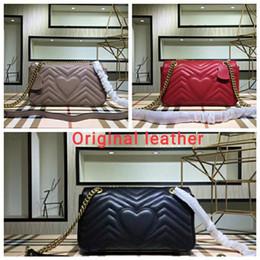 Canada Livraison gratuite Marmont sac sacs à main de luxe de haute qualité célèbre marques Designer sacs à main femmes sacs en cuir véritable sacs à bandoulière Trois taille Offre