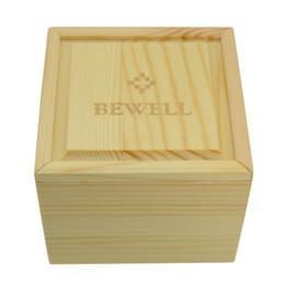2019 schöne holzkisten BEWELL Uhrenbox Hochwertiges schönes Massivholz Uhrenbox aus Holz Elegantes Quadratisches Geschenk mit weichem Kissen günstig schöne holzkisten