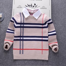 c62a35d0fff2 2-7 anni inverno e autunno designer di marca ragazzi abbigliamento manica  lunga maglione pullover abbigliamento outdoor per bambini regalo bambino  ragazzo ...