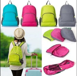Wholesale Waterproof Folding Backpack - Outdoor Travel Portable Bags Folding Waterproof Backpack Sport Bag Riding Storage Backpack Camping Rucksack 7 COLOR KKA4011
