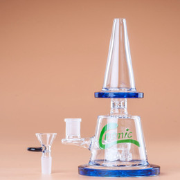 Wholesale gear joints - Bong Glass Bong Bongs Water Pipe USA STOCK 8.5'' Dab Rig With Triple Gear Diffuses in a Wide Base 14mm Female Joint 2-7 Days Delivery WP0015