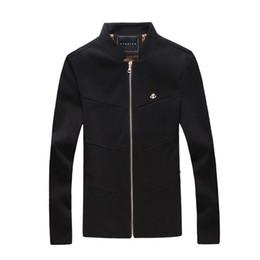 Wholesale Jaqueta Slim Baseball - Wholesale- men bomber jacket casual slim fit jaqueta masculina solid color baseball outerwear M-5XL JPYG113