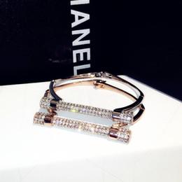 Canada Mode européenne simple et de luxe bracelet en diamant clouté bracelet en argent couleur or rose Livraison gratuite! Offre