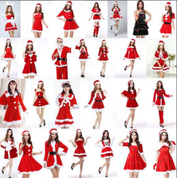 Capas de natal on-line-Estilos de lotes natal vestido vermelho santa cape Elfos de fadas de natal Papai Noel Manto festa de Halloween cosplay Traje