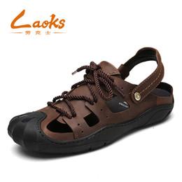 Wholesale Fashion Foot Wear - 2018 Plus Size Men Sandals Quality Genuine Leather Men Summer Shoes Classics Comfort Beach Sandals Hard-wearing Men Foot Wear