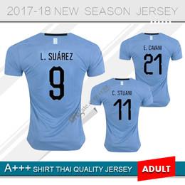 Wholesale Uruguay Soccer - Top 2018 World Cup URUGUAY SUAREZ Soccer Jerseys D.GODIN E.CAVANI 18 19 football shirt J.M.Giménez De Arrascaeta Football shirt