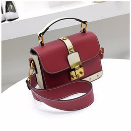 Wholesale Brown Square Envelopes - 2017 new European and American fashion portable candy shoulder bags small square package simple Messenger cross body bag