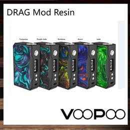 Wholesale Power Chips - VooPoo DRAG 157W TC Mod With Resin Panel Powered by GENE Chip 0.91 Inch OLED Display Screen Upgradeable Firmware 100% Original