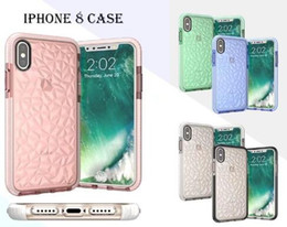 Wholesale Diamond Pattern Iphone Case - For iPhone x Case Soft TPU+D30 Diamond Pattern Transparent Clear Phone Case For iPhone X 8 Plus 7 6 Plus