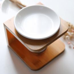 aceites quemador de vela Rebajas Artesanales adornos aromaterapia Horno de Arte Diseño de bambú de cerámica del quemador de petróleo de alta calidad Vela regalo de la lámpara de aceite de aromaterapia