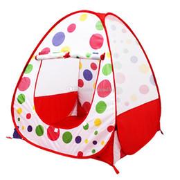 Los niños abren carpas online-Los niños Los niños juegan Tiendas de campaña Jardín al aire libre Plegable Tienda de juguete portátil Interior Exterior Pop Up Casa independiente multicolor C3056