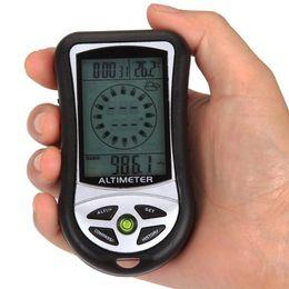 Барометр высотомера цифровой компас онлайн-New Digital 8 in 1 LCD Compass Barometer Altimeter Thermo Temperature Clock Calendar