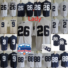 Wholesale Womens Army Shorts - Womens Penn State Nittany Lions Trace McSorley College Football Jerseys Marcus Allen Mike Gesicki Saquon Barkley NCAA Fiesta Bowl Jersey