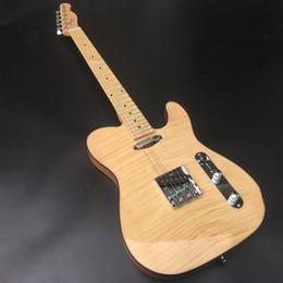 2019 tl acero chitarra Corpo in ontano con chitarra acustica Flamed Maple Top TL, hardware cromato, alta qualità spedizione gratuita tl acero chitarra economici