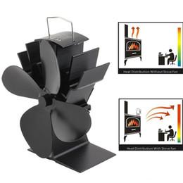 4 лезвия тепловой энергии древесины плита вентилятор для журнала древесины горелки камин Эко вентилятор черный от Поставщики vga-карта