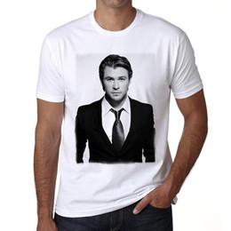 T-shirt à manches courtes 100% coton pour homme Chris Hemsworth 1 pour hommes ? partir de fabricateur