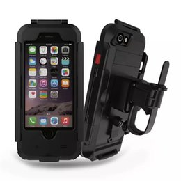 bicycle armor Promo Codes - Luxury Waterproof Universal Motorcycle Bike Bicycle Handlebar Holder Stand Armor Outdoor Phone Case For Iphone 7 Drop Shipping