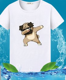 Wholesale wholesale hipster clothes - ECTTCTrendy Melon Dog Printing Fashion Men's T shirt Brand Tops White Short Sleeve T-shirt Hipster Tee Clothing