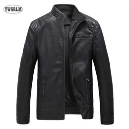 Wholesale Male Leather Wool Clothing - YWSRLM Keep warm fashion autumn winter Men's leather jacket brand clothing casacos black jacket quality male leather coat 5XL