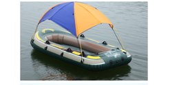 Barco sol online-Envío gratis Intex inflable tienda de campaña Sun Shelter 2 3 4 persona PVC goma pesca barco tienda Sun Canopy Beach sombrilla