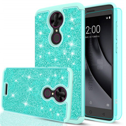 cases for coolpad Coupons - For Coolpad Revvl Plus Luxury Bling Glitter Phone Case Hybrid Soft Silicone Hard PC Back Cover For Coolpad Revvl Plus