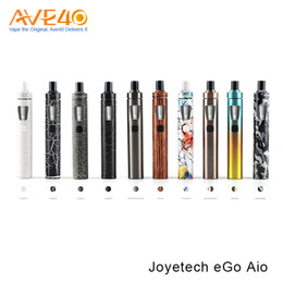 Wholesale Design Ego - Authentic Joyetech eGo AIO Kit All-in-one Design 2ml 1500mAh Battery Kanger Subvod Eleaf iJust Kit Vape Mods