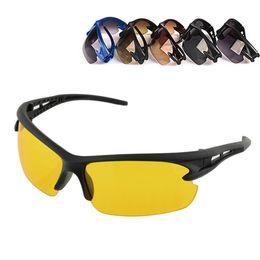 Gafas de ciclismo nocturno online-Gafas de motocicleta Hombres Visión nocturna Moto Gafas Protección UV Ciclismo Equitación Gafas de Motocross Gafas de sol Oudoor