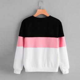 Otoño 2018 Harajuku sudadera con capucha mujer Streetwear Color Block Kpop con capucha estilo coreano mujer ropa Moletom desde fabricantes