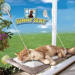 Wholesale Seat Rest - Window Mounted Cat Beds with strength suction cups Cat Hammock Sunny Pet Supplies Cat Bed Mats Resting Seat Washable Cover Pet Bed