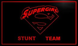 Wholesale Led Neon Commercial Sign - supergirl stunt team led Neon Sign hang sign home decor crafts