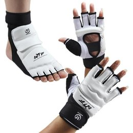 kids gear Coupons - Taekwondo Gloves Sparring Hand Foot Protector Cover Boxing Gloves Gear Fitness Taekwondo Brace Protection for Adult Kids