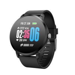 lg smart band Sconti 2019 Sports Smart Watch V11 Frequenza cardiaca Monitoraggio della pressione arteriosa previsioni meteorologiche Misurazione della temperatura di previsione Orologio intelligente Bracciale 1pz