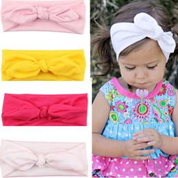 2019 cheer bows schwarz Arlai Fashion Cute Kaninchenohren Bogen Haarbänder Tuch Stirnband Bowknot Headwear Für Mädchen j001