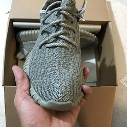 Wholesale pirate green - 2018 350 V1 Boost Pirate Black Turtle Dove Moonrock Oxford Tan Kange West Men Women Running Shoes Sport Size US5-13