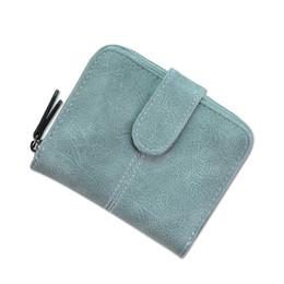 Wholesale Counter Bags - New Cross-Counter Ladies Wallet Women Short Multi-function Folding Zipper Scrub Wallet Coin Bag