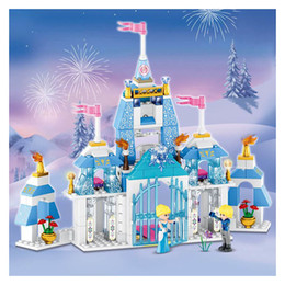 Wholesale Princess Building Blocks - City friend princess Bella Enchanted Cinderella castle Undersea Palace building blocks bricks compatible with legoing