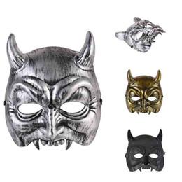 Wholesale Partido das máscaras do demónio de Halloween Demonstrar fontes festivas do partido Casa Máscara plástica nova Artigos baratos do Dia das Bruxas para a venda por atacado