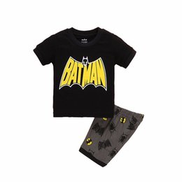 Wholesale Set Boys Superman - 2017 New Summer Boys Clothes Set T-shirt Short 2pcs Children Clothing Set Casual Kids Suits for Toddler Batman Superman