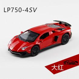 Carros de luxo LP750-4SV Liga Modelo Estático 1:32 de Metal Carro Esportivo Supercar puxar Para Trás Luz Som Crianças Brinquedos de Presente de