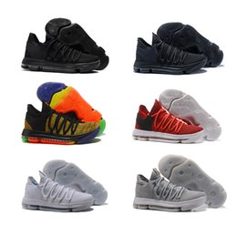 Wholesale Kd Zoom Basketball - Zoom Kevin Durant KD 10 Elite KDX Opening Night Peach Jam PK80 Red Velvet Triple Black Wolf Gray Men Basketball Shoes Sports Sneakers