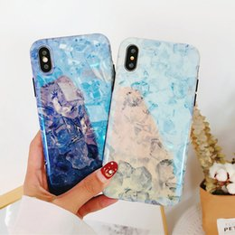 Wholesale Ice Blue Iphone Case - Cool Summer style Ice Cubes Pattern Fashion Soft Cover TPU Phone Case For iPhone 7 Plus X