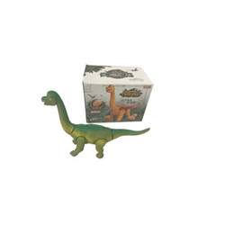 dragon dinosaurs Promo Codes - Electric Toy Walking Dinosaur Robot with Light Sound Random Color Delivery Dragon Tyrannosaurus Toys Gifts for Children