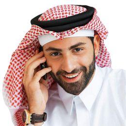Árabe Musulmán Hijab para hombres Mantas Turbante Bufanda de algodón Sombreros de oración Ropa musulmana Cabeza envuelta Pañuelo de Arabia Saudita Abaya Dubai Emiratos Árabes Unidos desde fabricantes